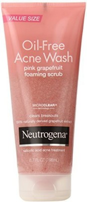 Neutrogena Oil-free Acne Wash Scrub Pink Grapefruit Scrub(198 ml)