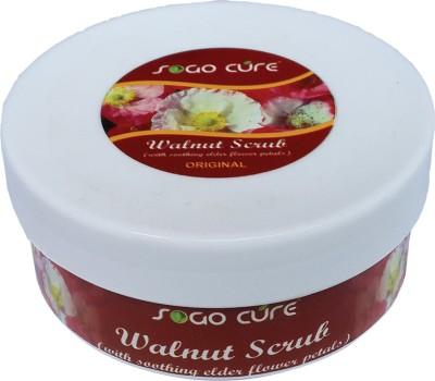 Sogo Cure Walnut Scrub With Elder Flower Petals 150 G Scrub