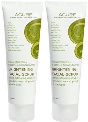 Acure organics brightening facial scrub argan oil natural exfoliator Scrub