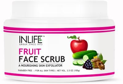 Inlife Natural Fruit Face Scrub, Paraben Free Best Exfoliator For Acne Scrub