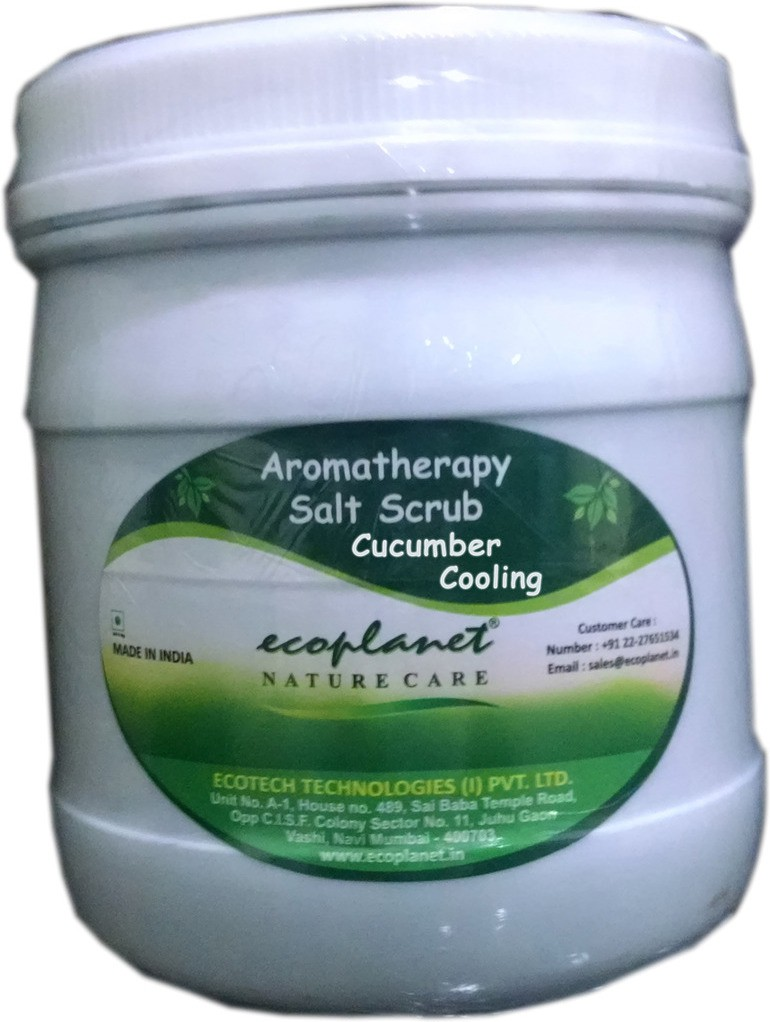 Ecoplanet Aromatherapy Salt Base Cucumber Cooling Scrub(1000 g)