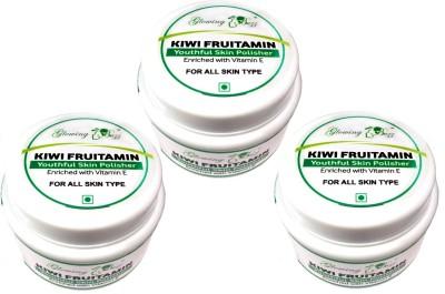 Glowing Buzz Pack of 3 Kiwi Fruitamin Youthful Skin Polisher  Scrub