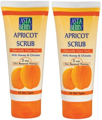 Astaberry Apricot -Pack of 2 Scrub