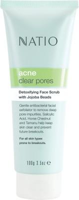 Natio Acne Clear Pores Detoxifying Face  Scrub