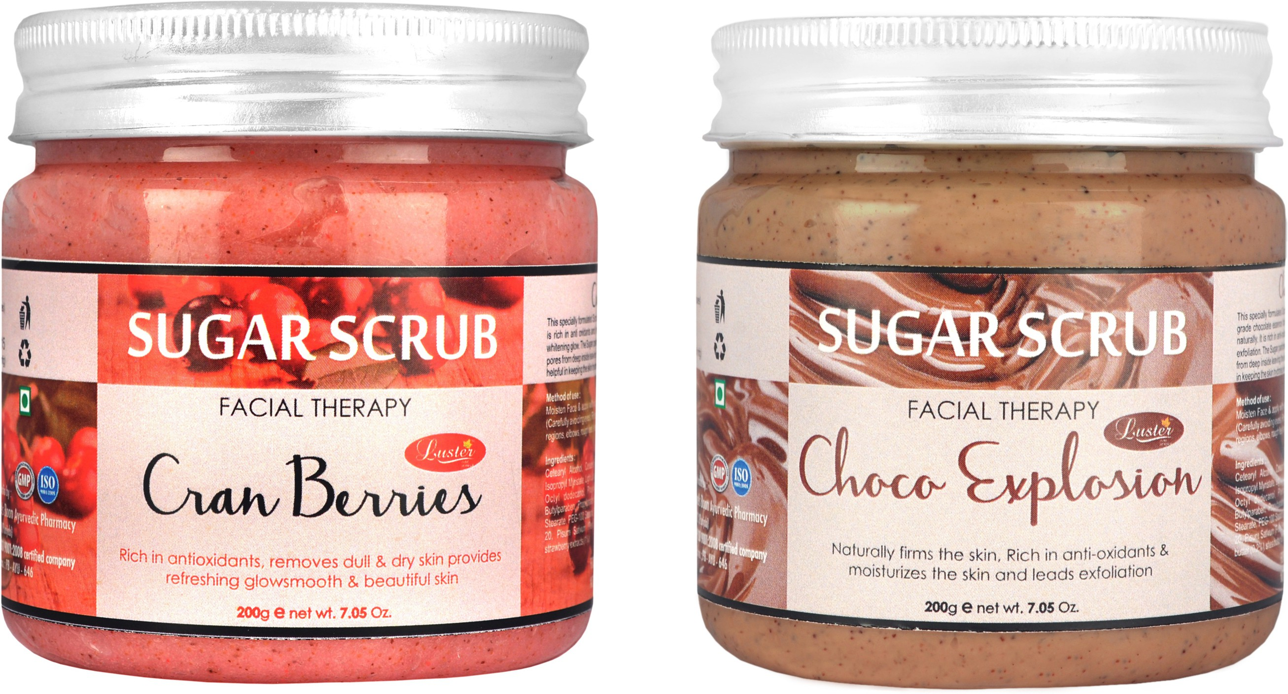 Luster Cranberries & Choco Explosion Sugar (Combo) Scrub(400 g)