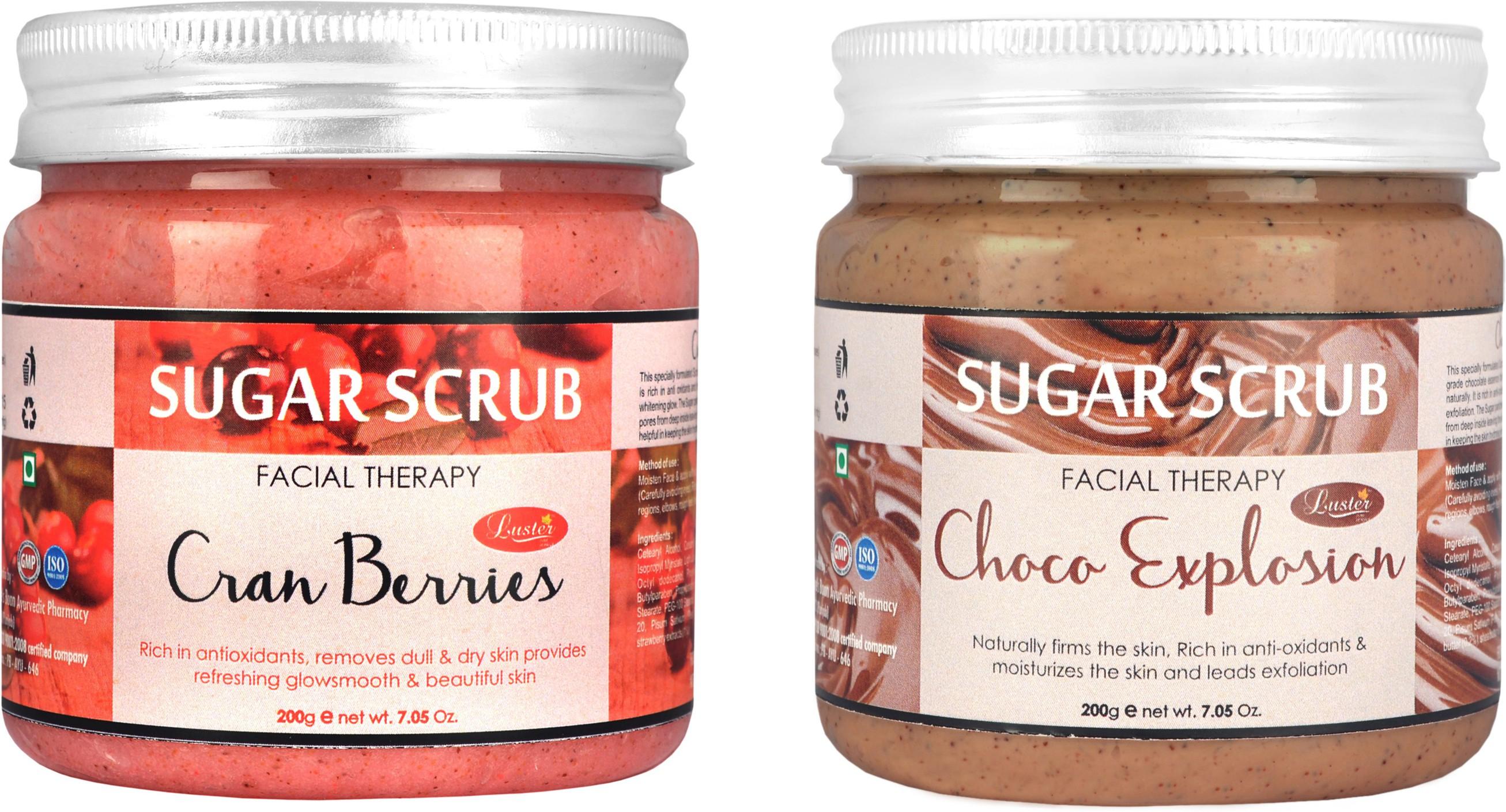 Luster Cranberries & Choco Explosion Sugar (Combo) Scrub(400 g)