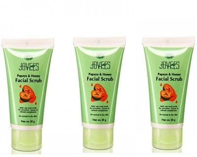Jovees Facial Scrub Papaya & Honey (Pack of 3) Scrub