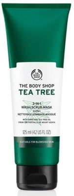 The Body Shop Tea Tree 3 in1 Wash Scrub(125 ml)