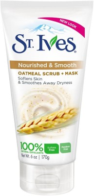 St. Ives Oatmeal Scrub + Mask, Smooth & Nourished Oatmeal Scrub
