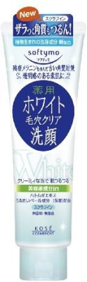 softymo kose cosmeport white facial washing foam scrub in Scrub