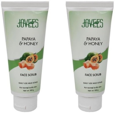 Jovees Papaya & Honey Scrub Pack Of 2 Scrub