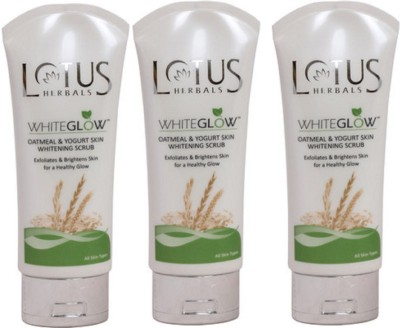 Lotus White Glow Oatmeal & Yogurt Skin Whitening  Scrub
