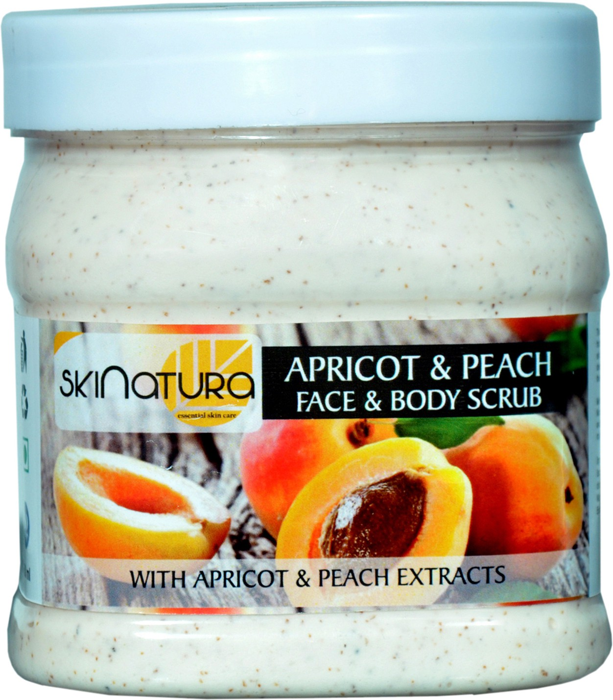 Skinatura apricot & peach face & body cream scrub Scrub(500 ml)