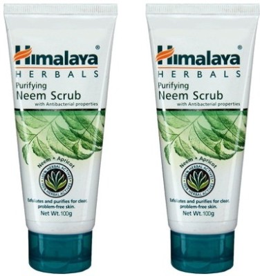 Himalaya Purifying Neem Scrub (Pack of 2) Scrub(200 g)