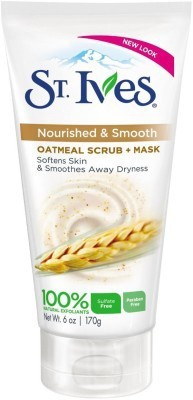 St . Ives Oatmeal Scrub + Mask, Smooth & Nourished Scrub