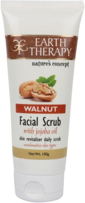 EARTH THERAPY Walnut With Jojoba Oil Facial Scrub