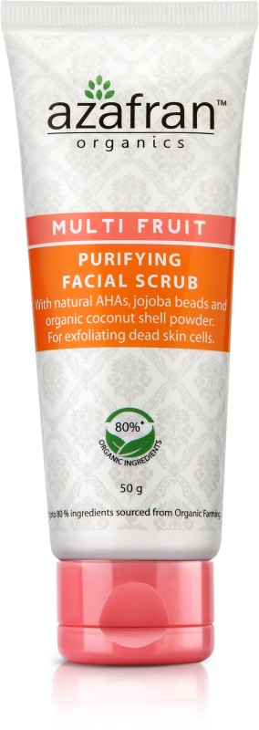 Azafran Organics Multi Fruit Purifying Facial Scrub(50 gm)