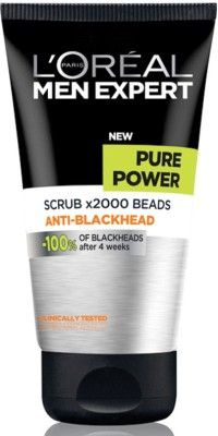 L,Oreal Paris Men Expert Pure Power X2000 Beads Anti-Blackhead Scrub