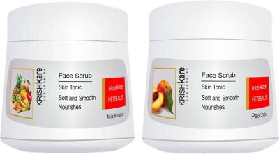 Krishkare Mix fruits and Peaches Combo Scrub