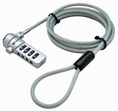 AKSHAJ Premium Combination Portable Security Lock Cable For Notebook & Laptop & PC - Easy Push Lock Button For Easy Installation