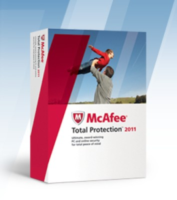 McAfee Total Protection 2011 3 PC 1 Year