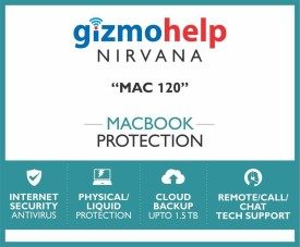 Gizmohelp Macbook Protection Plan with Cloud Backup, Accidental Damage Protection & Kaspersky Total Security (Mac120)