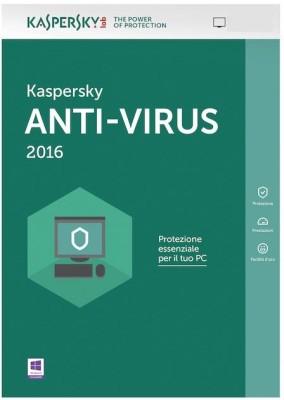 Kaspersky Anti-virus 2016 2 PC 1 Year