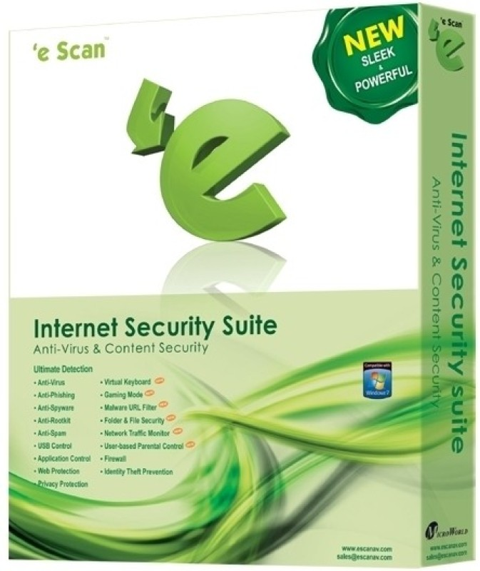 eScan Internet Security Suite 5 PC 1 Year
