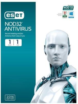 ESET Nod32 Antivirus 1Pc 1 Year 2016 Edition.