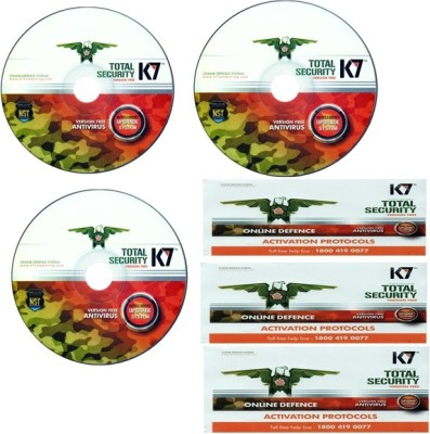 K7 Total Security 3Pc 1year With 3 Installation Cds& 3 Serial Keys