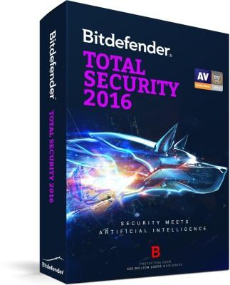 Bitdefender Total Security 1 Year 3 PC 2016
