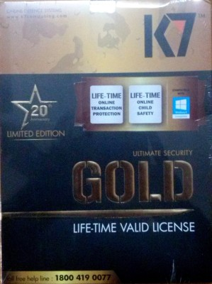 K7 Ultimate Security Gold 1 Pc Lifetime Validity