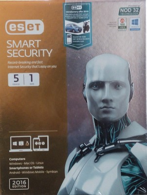 Eset Smart Security 2016 Edition 5 Devices 1 Year