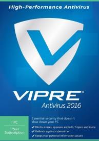 Viper Antivirus 2016 1PC 1Year License Key Card