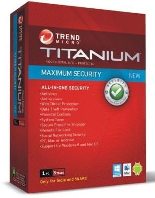 Trend Micro Maximum Security 3 Year 1 PC - 2014