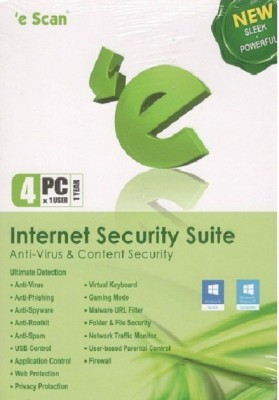 eScan Internet Security 4 PC 1 Year