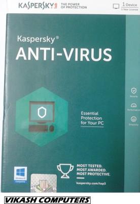 Kaspersky Anti-Virus Latest - 1PC / 1 Year (Windows 10 Compatible)