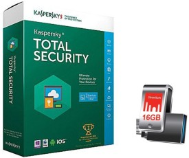 Kaspersky Total Security 2016 1 PC 1 Year (Multi-Device) with Strontium Nitro Plus OTG 16GB Pen Drive 3.0