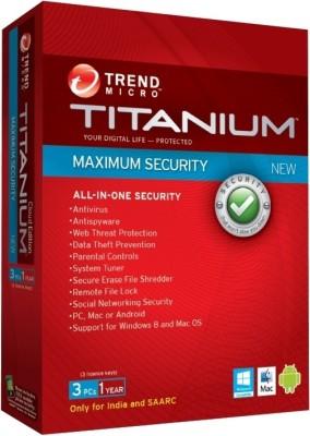 Titanium Maximum Security 2012 3 User 1 Year