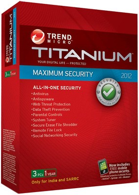 Titanium Maximum Security 2012 3 User 1 Year