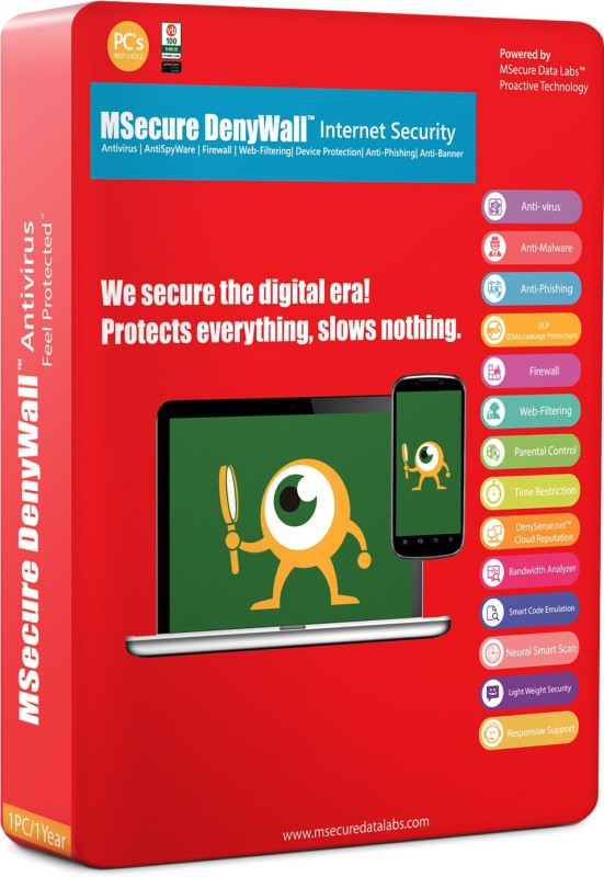 Msecure Denywall Internet Security 1 PC 1 Year