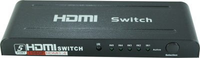 Smart Power 5 Port HDMI Switch With Remote Media Streaming Device