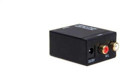 Spycom Optical Coaxial Toslink Digital to Analog RCA L/R Audio Converter Adapter Media Streaming Device