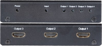 Schnell HDMI Splitter 1x4 Media Streaming Device(Black)