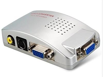 Divinext VGA to TV AV Composite RCA S-Video Converter Box Adaptor for Computer Laptop PC MAC Monitor Media Streaming Device