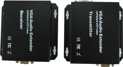 Smart Power VGA Extender using CAT cables - 300m Media Streaming Device