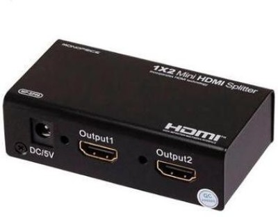 Speed Plastic Black HDMI Splitter 1 Inpu...