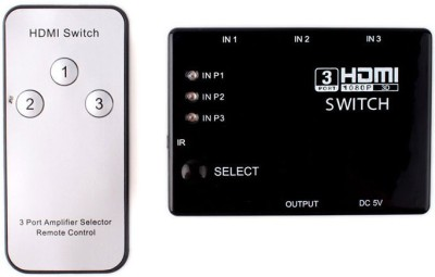 Spycom 3 Port HDMI Switch with IR Remote Control Media Streaming Device