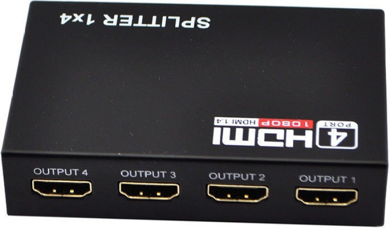 RoQ 1x4 HDMI Splitter Media Streaming Device(Black)