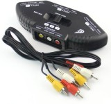 Fox Micro 3-Way Audio Video RCA Composit...